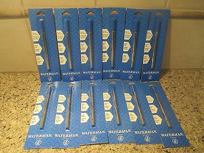 """12, Rollerball """"Blue Fine Point"""" Refills for WATERMAN Pens"""