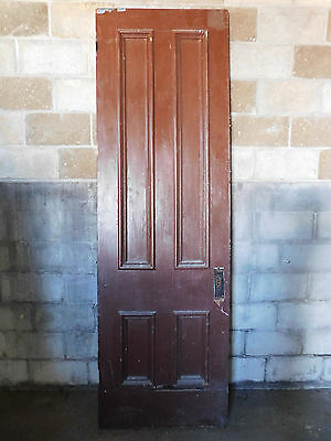 Antique Victorian Style 8' Tall Entry Door - C. 1880 Fir Architectural Salvage