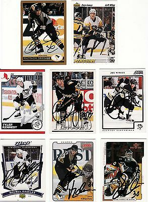 Troy Loney, Pittsburgh Penguins, Rare Auto'd/signed Nhl Card.