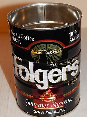 VINTAGE FOLGER'S GOURMET SUPREME Coffee Can 12 oz., All Coffee Makers, 1980's