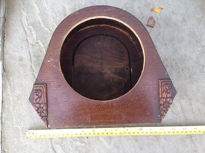 Vintage wooden empty mantel/mantle clock case - parts spares