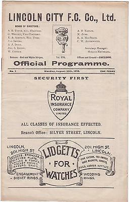 Lincoln Res V Sutton Town 1926/27