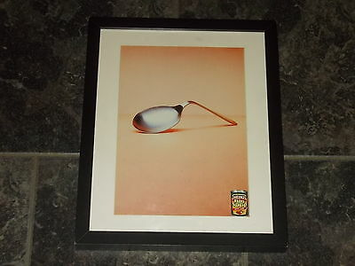 Heinz big soup(bent spoon)-Original advert Framed ready for your wall