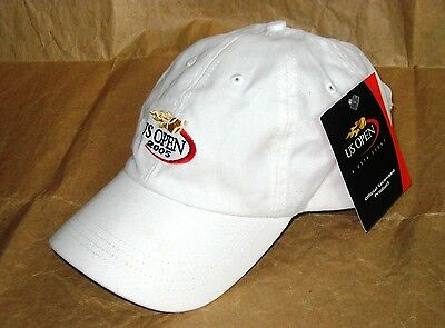 New Official US Open 2005 USTA Tennis IBM Adjustable White Cap NWT