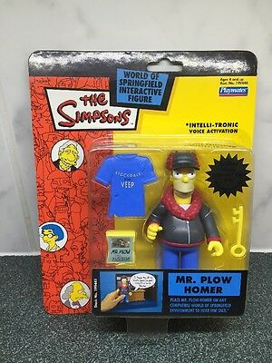 Rare The Simpsons WOS Figure MINT Mr Plow Homer 2003 Collectable