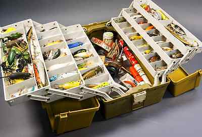 Plano Tackle Box - 70 Lures + Spinners, Spoons, Hooks, Floats, Weights, Reels