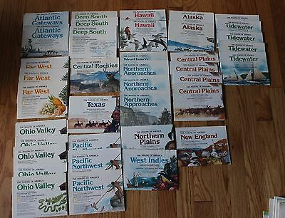 National Geographic The Making of America Map Lot 38 Pieces 1983-1988