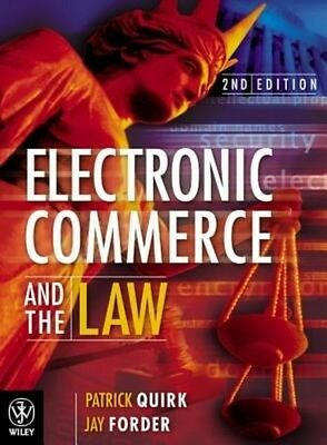 Electronic Commerce and the Law by Duncan Bentley Hardcover Book