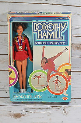 Dorothy Hamill Doll with Ice Skating Rink 1977 Ideal Toy