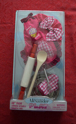 "Madame Alexander Sweet Treats Baking Set Outfit! Brand New For 18"" Play Dolls"