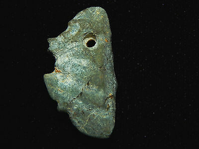Avian Jade Anthropomorphic Pendant, Translucent Jade , Authentic Pre-Columbian