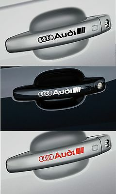 For AUDI - 4 x Door Handle -  CAR DECAL STICKER ADHESIVE - 95mm long
