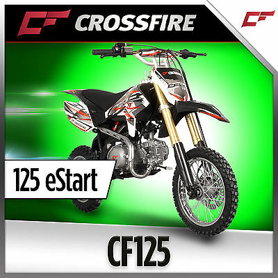 Crossfire CF125 ES Electric Start 125cc Dirt Bike, Pit Bike Off Road Motorcycle
