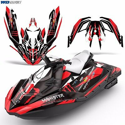 3up Spark 3 Decal Graphic Kit SeaDoo Ski Wrap Jetski Bombardier Part Sea-Doo mr