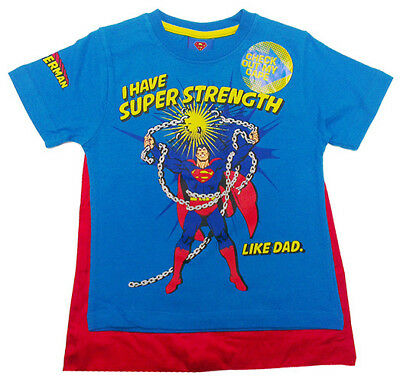 Superman Cape & T shirt Size 7 Boys Genuine Licensed Dc Comics Tee NEW