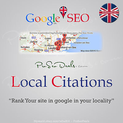 UK SEO 60+ backlinks from local business citations - Online Marketing