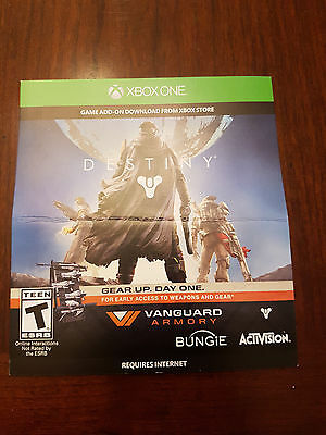 Xbox One Destiny Vanguard Armory Game Add On Download Code