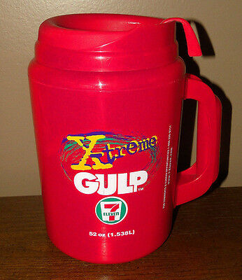 X-Treme Big Gulp 52 oz Red Aladdin Super Insulated Cup Mug 7-11 VERY NICE!