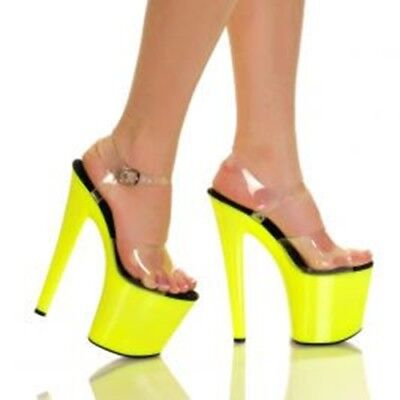 The Highest Heel Women's GLOW-161 UV Reactive Platform Sandal US Size