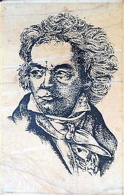 Beethoven - Stampington & Co - Wood Mounted Rubber Stamp