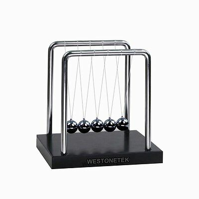 Classic Newtons Cradle Steel Balance Balls Physics Science Accessory Home Office
