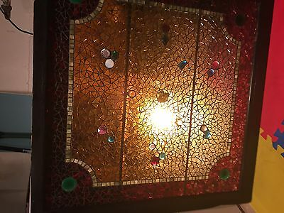 Authentic Original 1880's Belcher Mosaic Glass Co. Stained/Jeweled Window
