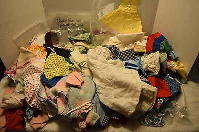 Vintage Large Lot Of Doll Clothes, Hand Made, Different Sizes