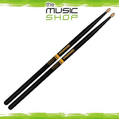 Set Promark Rebound Balance 7A Active Grip Hickory Drumsticks with Wood Tips