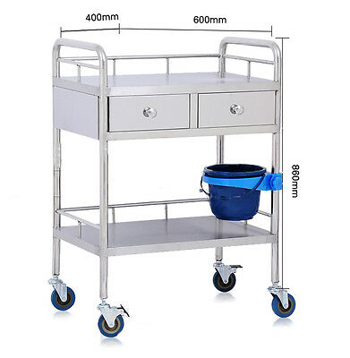 Portable Layers Medical Dental Super Drawer Lab Kitchen H215 Cart Trolley