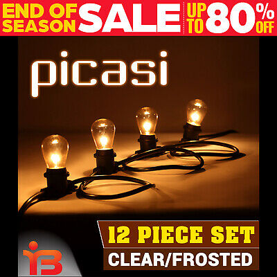 12 PIECE PICASI STRING LIGHT KIT Festoon PARTY Vintage Rope Retro Xmas Christmas