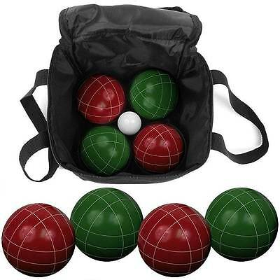 9 Pc Bocce Ball Set with Easy Carry Nylon Bag [ID 70387]