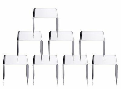 Jusalpha® 5x5x5 Inches Clear Acrylic Riser Stand, Lot of 8