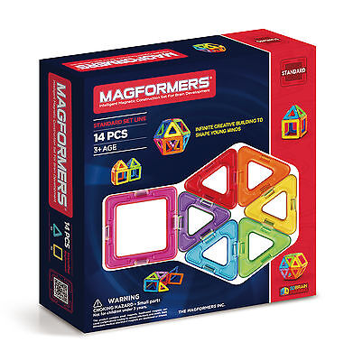 NEW!! Genuine MAGFORMERS sets 14 pcs shapes Set 3D Magnetic construction