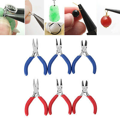 3Pcs Mini Mixed Nose Pliers Cutter Beading Jewelry Making Repair Crafts Tool