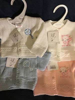 Premature Baby Cardigan Prem Boys Girls 3-5lbs 5-8lbs White Pink Blue Tiny Baby