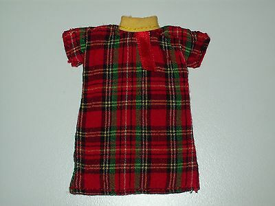 """Eden 8"""" Madeline Doll Clothes Red Green Plaid Dress Yellow Collar"""