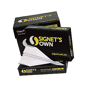 Signet's Own A4 White Copy Paper - 80gsm x 5 Reams