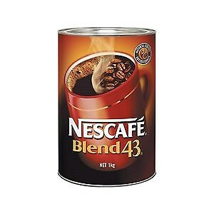 Nescafe Blend 43 Coffee 1kg Tin x 2 Tins