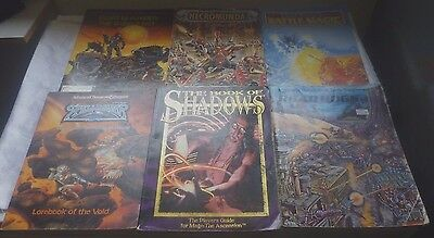 VINTAGE ASSORTED 6 ROLE PLAYING MAGAZINES Inc WARHAMMER,DUNGEONS & DRAGONS Etc