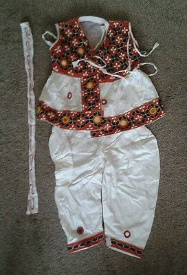 Kids boys indian suit kurta in white size 1-2 years