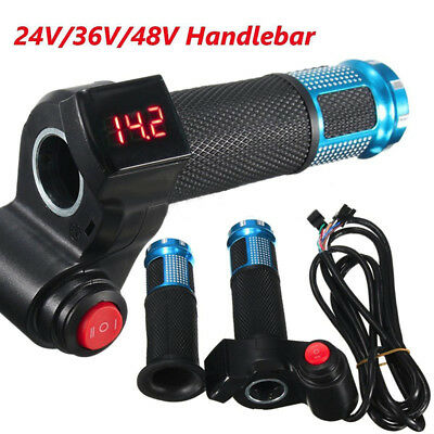 24V 36V 48V Universal  E-Bike Electric Scooter Digital Meter Handlebar Throttle