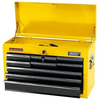 Draper 9 Drawer Tool Chest Cabinet - New & Boxed - Yellow - Ball-Bearing Runners