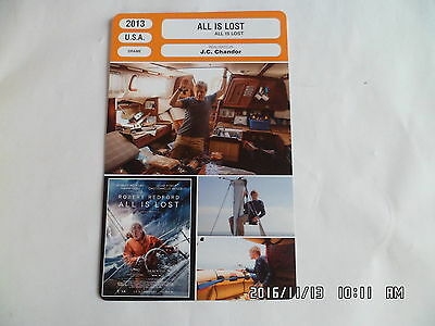 CARTE FICHE CINEMA 2013 ALL IS LOST Robert Redford