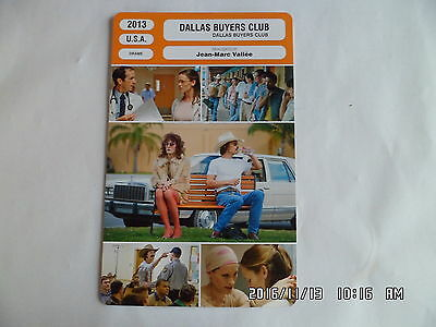 CARTE FICHE CINEMA 2013 DALLAS BUYERS CLUB Matthew McConaughey Jennifer Garner