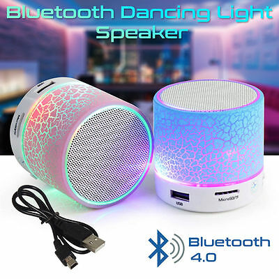 Bluetooth Wireless Portable Speaker for Android iPhone iPad with Dancing Lights