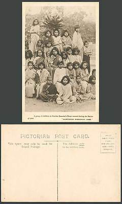 India Old Postcard Children in Pandita Ramabai's Home Rescued During Famine 1900