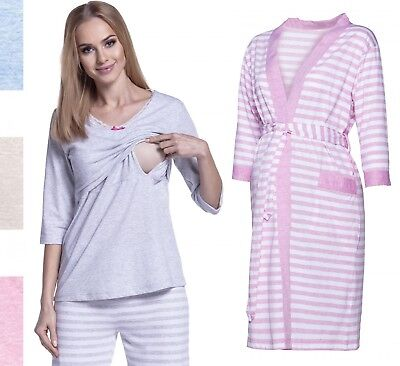 Happy Mama Women's Maternity Top Nursing Pyjamas and Robe SOLD SEPARATELY. 394p
