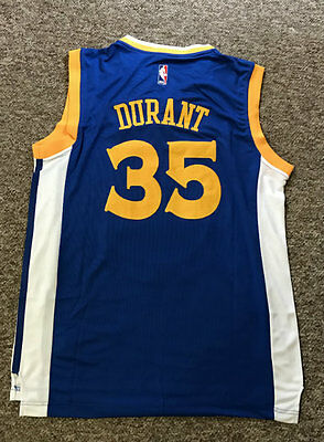 Bnwt Nba Basketball Jersey #35 Kevin Durant Golden State Warriors Adults
