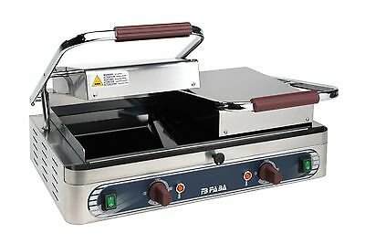 double contact grill DL2/1 Panini Grill  upper smooth lower smooth