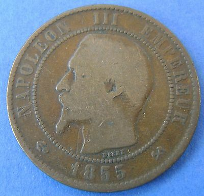 1855 B Frankrijk - France - 10 centimes 1855 B (anchor) - KM# 771.2